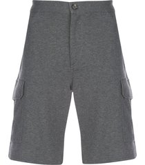 brunello cucinelli straight-leg cargo shorts - grey