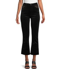 mother women's the smooth hustler velour kick flare pants - soft skill - size 29 (6-8)
