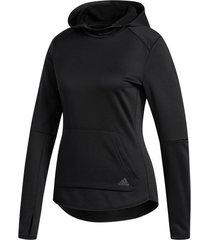 buzo negro running adidas hoodie mujer