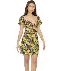 vestido corto estampado ananá isola