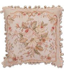 almofada aubusson flores 2 - 50 x 50