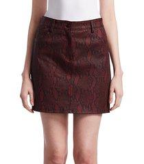troy snakeskin mini skirt