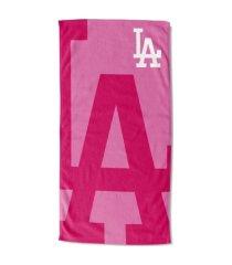 "northwest company los angeles dodgers 30x60 ""pink lockup"" beach towel"