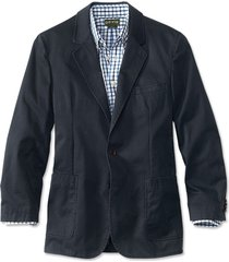 washed casual sport coat, navy, 44