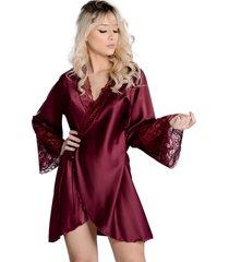 robe curto  yasmin lingerie perola sensuale - vinho - feminino - dafiti