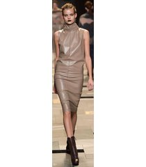 women celeb style haute couture premium cocktail party women leather dress-gn-02