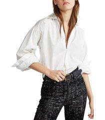 blusa beaded cotton broadcloth blanco polo ralph lauren