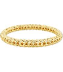 kendra scott 14k gold-plated textured bangle bracelet