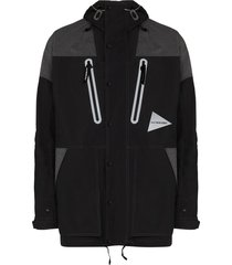 and wander pertex hooded reflective jacket - black