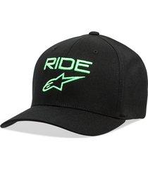 gorro ride 2.0 negro/verde alpinestars