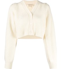 loveshackfancy avignon cropped cardigan - neutrals