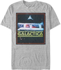 fifth sun battlestar galactica men's classic retro ships poster short sleeve t-shirt