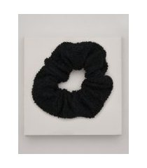 amaro feminino scrunchie atoalhado, preto