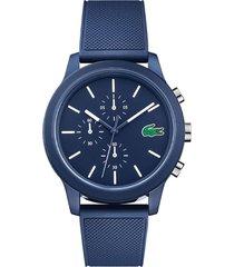 reloj análogo azul lacoste