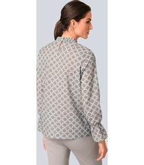 blus alba moda grå::vit