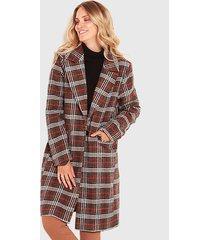 abrigo wados escoces rojo - calce holgado
