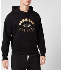 kenzo men's classic eye hoodie - black - xxl
