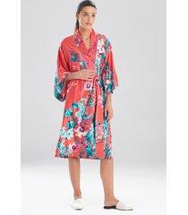 natori bloom sleep & lounge bath wrap robe, women's, size xs