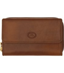 the bridge story donna genuine leather tri-fold wallet