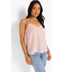 petite geweven hemdje met v-hals, pale pink