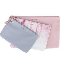 womens halion angel triple pouch set