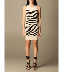 just cavalli dress just cavalli short dress in animalier knit
