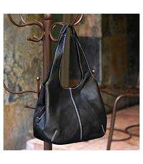 leather shoulder bag, 'urban legend' (mexico)