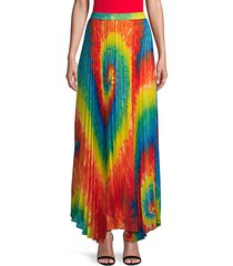 tie-dyed pleated skirt