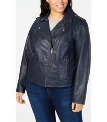levi's plus size trendy faux leather moto jacket
