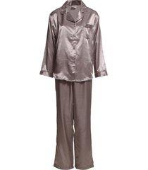 satin long sleeve pyjamas pyjamas brun lady avenue