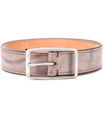 paul smith distressed leather belt - neutrals