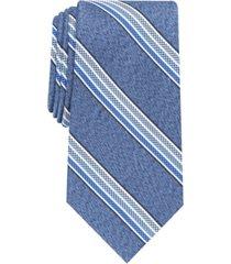 perry ellis men's gibbon slim checker stripe tie