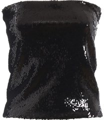alexandre vauthier black sequined mini skirt 192to105901921050black