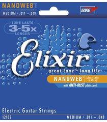 encordado elixir 12102 guitarra electrica 6 cuerdas t media
