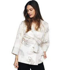 pierre robert x jenny skavlan cotton lounge kimono * gratis verzending *