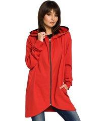 sweater style s133 a-lijn midi rok - rood