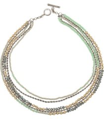 miriam haskell new york imitation pearl bead layered necklace