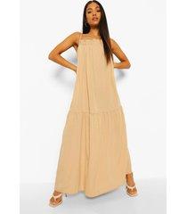 petite geweven maxi jurk met bandjes, sand
