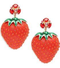 bari goldplated strawberry drop earrings