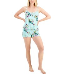 inc lace-trim cami & shorts pajama set, created for macy's