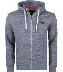superdry heren vest orange label zipped hoodie -