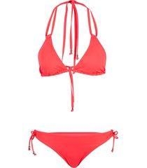 bikini a triangolo (set 2 pezzi) (fucsia) - rainbow