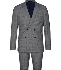 checked suit kostym grå lindbergh