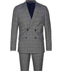 checked suit kostym grå lindbergh
