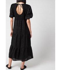 faithful the brand women's alberte dress - plain black - s