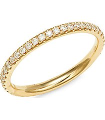 14k yellow gold & diamond eternity ring