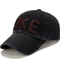 cappellino snapback regolabile da baseball in cotone traspirante per uomo