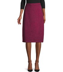 wool-blend pull-on pencil skirt