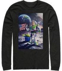 disney men's toy story buzz moon landing, long sleeve t-shirt