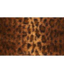 women's bernardo leopard faux fur hooded coat, size small - brown